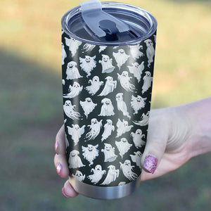 Funny Ghost Pattern Tumbler - Perfect Gift Stainless Traveling Mugs
