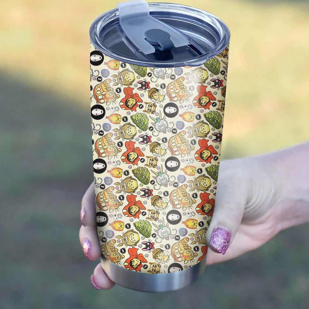 Ghibli Characters Tumbler - Perfect Gift Stainless Traveling Mugs