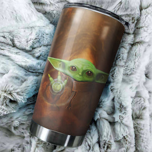 Baby Yoda Force Unleashed Tumbler