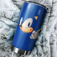 Load image into Gallery viewer, Sonic The Hedgehog Head Tumbler - Perfect Gift Stainless Traveling Mugs