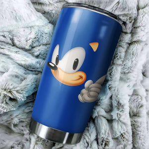Sonic The Hedgehog Head Tumbler - Perfect Gift Stainless Traveling Mugs