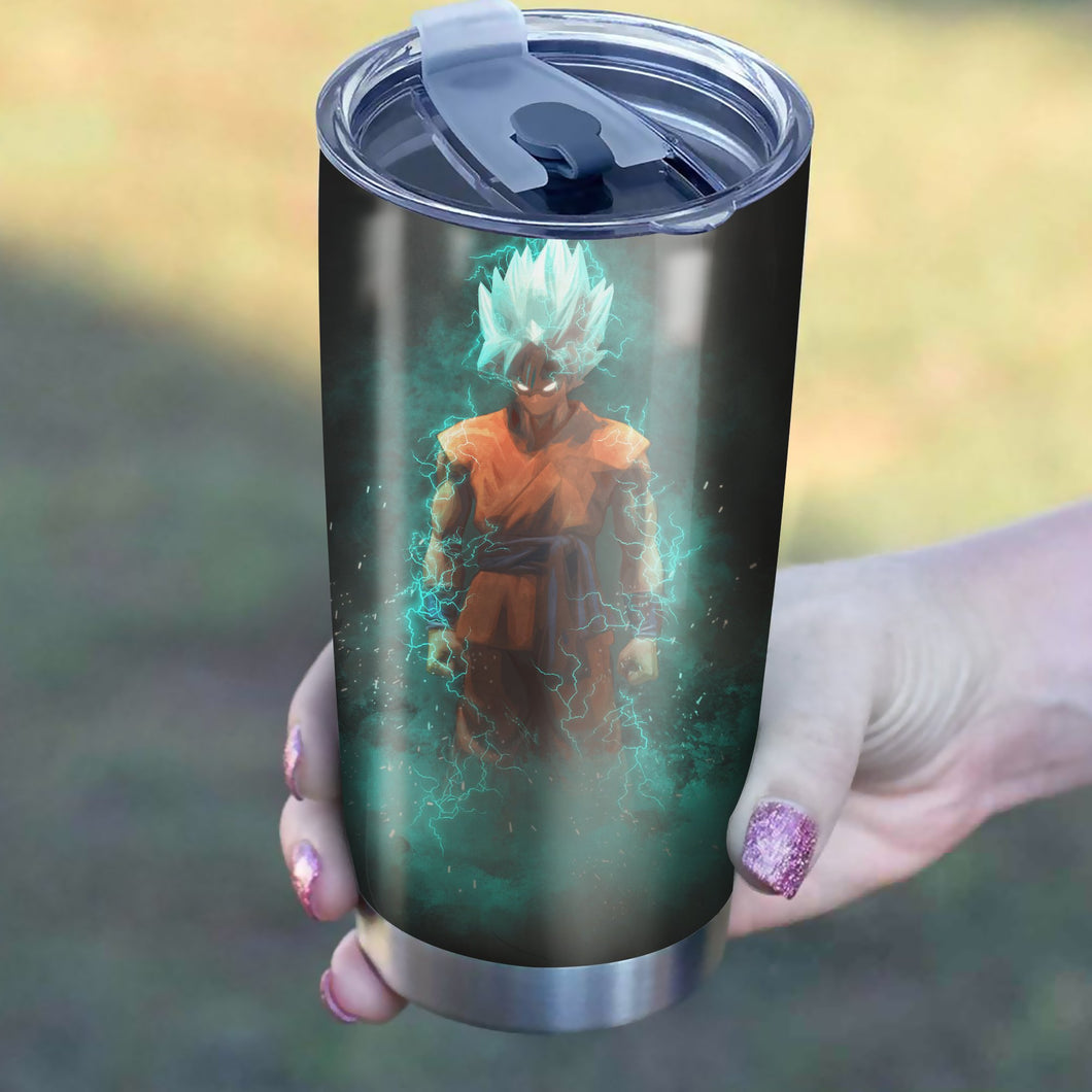 Goku Super Saiyan Blue Tumbler - Perfect Gift Stainless Traveling Mugs