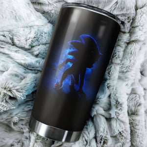 Sonic The Hedgehog Shadow Tumbler - Perfect Gift Stainless Traveling Mugs