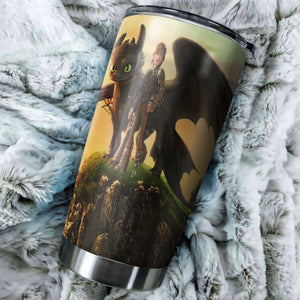 How To Train Your Dragon Sky Tumbler - perfect gift Stainless Traveling Mugs