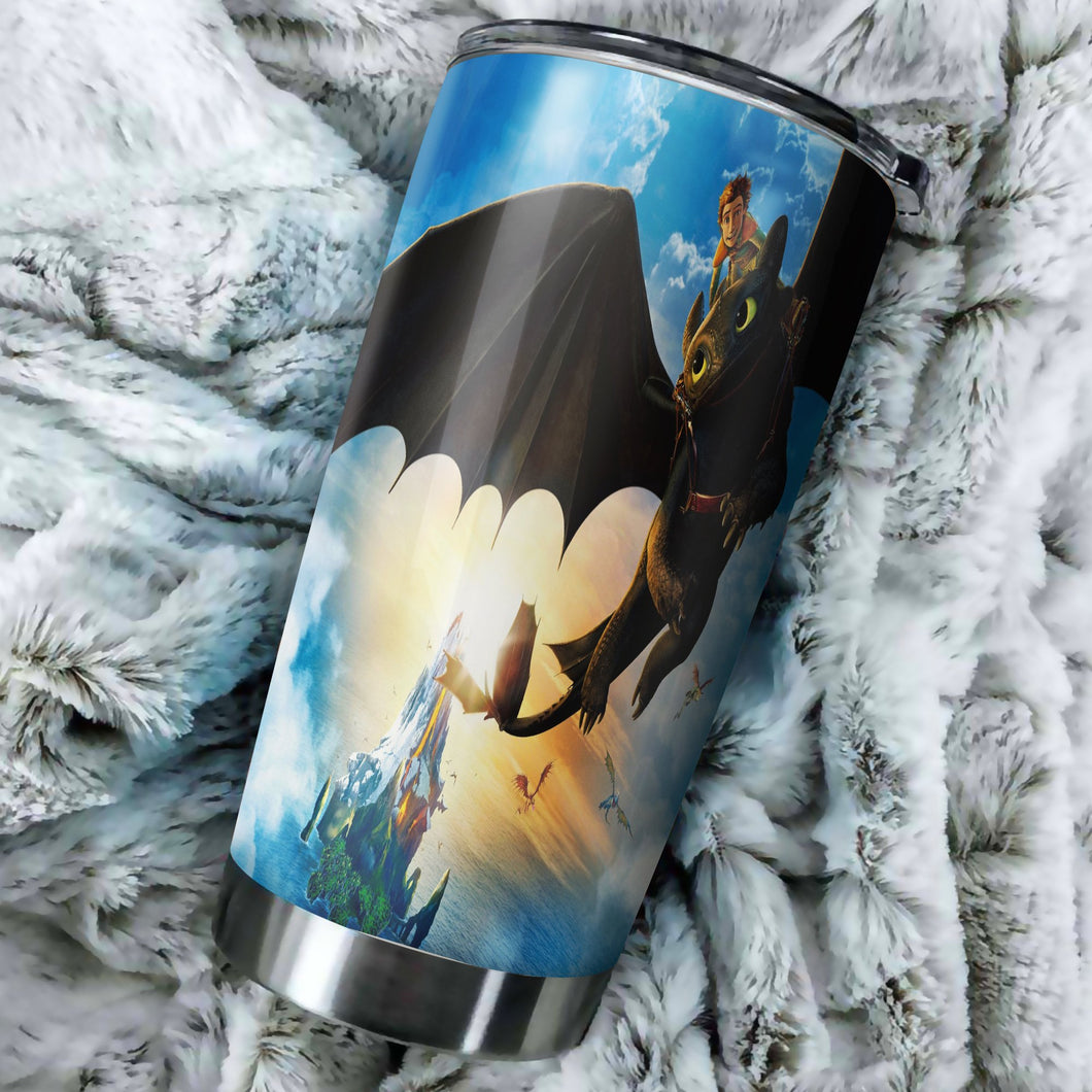 How To Train Your Dragon Dawn Tumbler - perfect gift Stainless Traveling Mugs