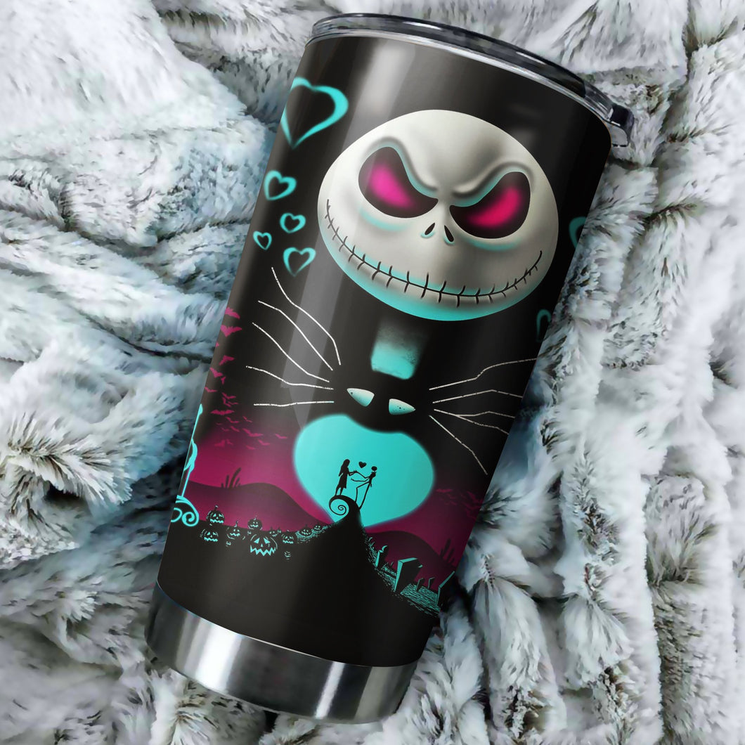 Jack Couple Nightmare Before Christmas Tumbler - perfect gift Stainless Traveling Mugs