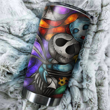 Load image into Gallery viewer, Jack Skellington And Sally Color Nightmare Before Christmas Tumbler - perfect gift Stainless Traveling Mugs