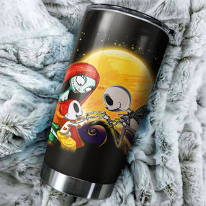 Jack Skellington And Sally Family Nightmare Before Christmas Tumbler - perfect gift Stainless Traveling Mugs