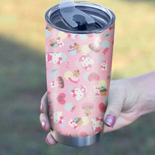 Load image into Gallery viewer, Hello Kitty Pink Tumbler - Perfect Gift Stainless Traveling Mugs