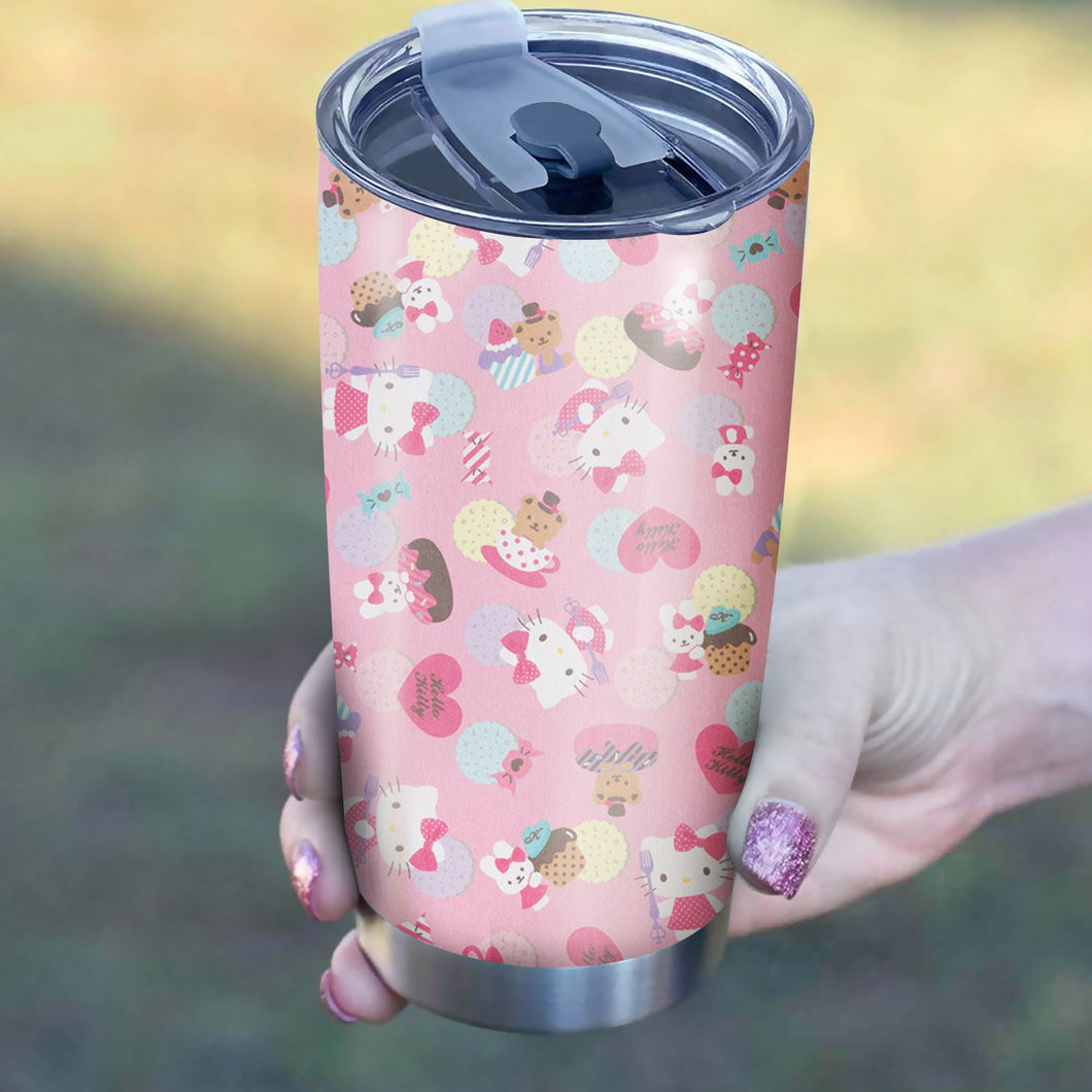 Hello Kitty Pink Tumbler - Perfect Gift Stainless Traveling Mugs