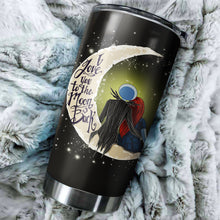 Load image into Gallery viewer, Jack Skellington And Sally To The Moon Nightmare Before Christmas Tumbler