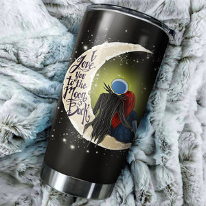 Jack Skellington And Sally To The Moon Nightmare Before Christmas Tumbler