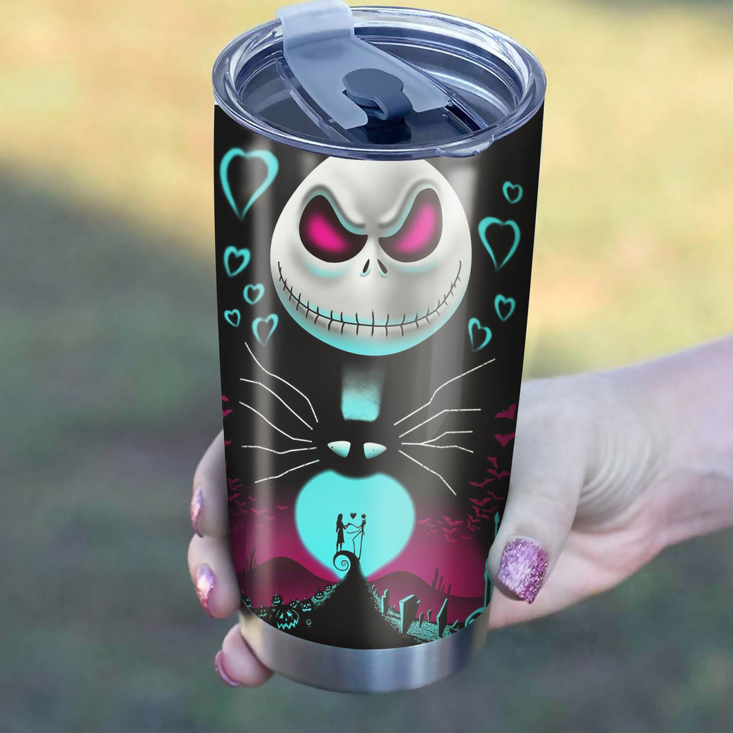 Nightmare Before Christmas Tumblers - Perfect Gift Stainless Traveling Mugs