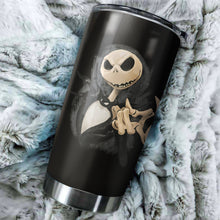 Load image into Gallery viewer, Jack Skellington Nightmare Before Christmas Dark Tumbler - perfect gift Stainless Traveling Mugs