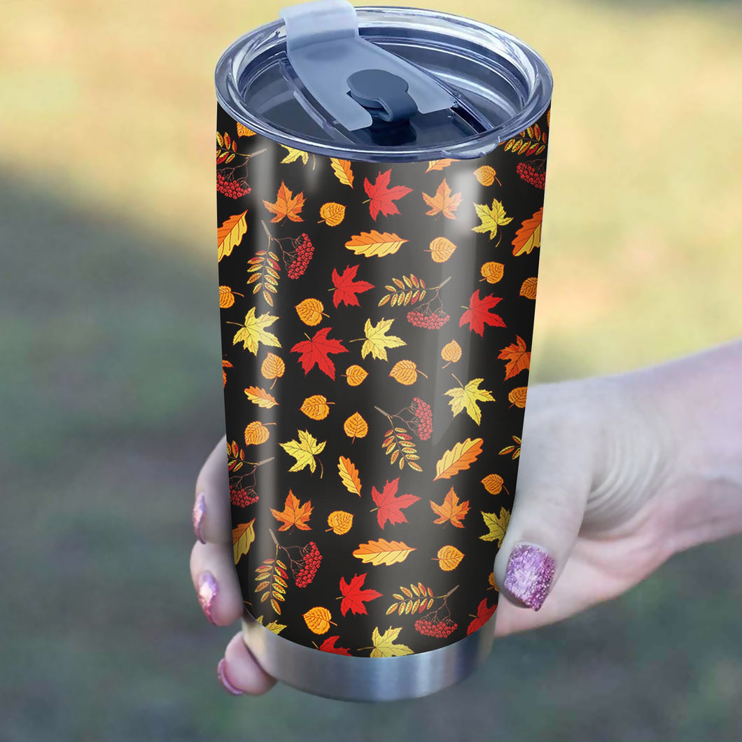 Autumn Leaves Pattern Tumbler
