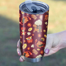 Load image into Gallery viewer, Pokemon Fire Tumbler - Perfect Gift Stainless Traveling Mugs