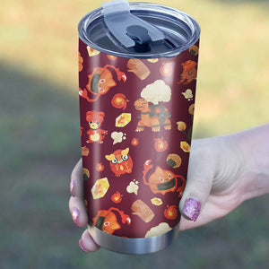 Pokemon Fire Tumbler - Perfect Gift Stainless Traveling Mugs