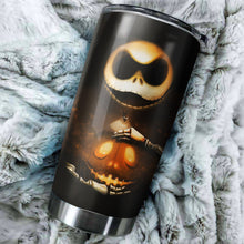 Load image into Gallery viewer, Jack Skellington Pumpkin Nightmare Before Christmas Tumbler - perfect gift Stainless Traveling Mugs