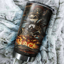Load image into Gallery viewer, Jack Skellington Nightmare Before Christmas Tumbler - perfect gift Stainless Traveling Mugs