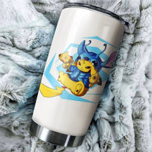 Load image into Gallery viewer, Pikastitch Tumbler - perfect gift Stainless Traveling Mugs