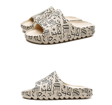 Load image into Gallery viewer, Summer Slipper Hieroglyphs