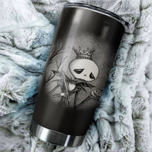 Load image into Gallery viewer, Sad Jack Skellington Nightmare Before Christmas Tumbler - perfect gift Stainless Traveling Mugs