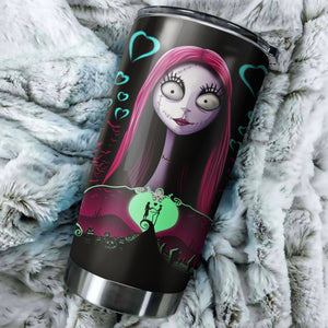 Sally Couple Nightmare Before Christmas Tumbler - perfect gift Stainless Traveling Mugs
