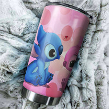 Load image into Gallery viewer, Stitch Love Tumbler - perfect gift Stainless Traveling Mugs