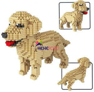Pets Dog Model Building Blocks