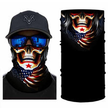 Load image into Gallery viewer, New Skull Ametican Style Bandanas (from 10.99$/pc)