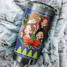 Load image into Gallery viewer, Black Pink 9 Christmas Tumblers