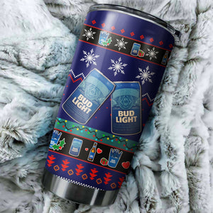 Bud Light Christmas Tumblers