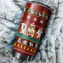 Load image into Gallery viewer, Bulldog Christmas Tumblers
