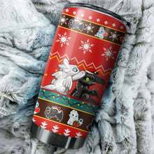 Load image into Gallery viewer, Cat Back White Christmas Tumbler