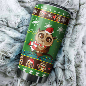 Cute Owl Christmas 1 Tumbler