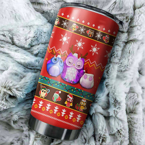 Cute Owl Christmas 2 Tumbler