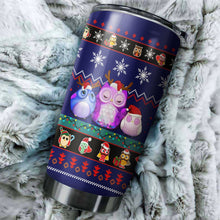 Load image into Gallery viewer, Cute Owl Christmas 3 Tumbler