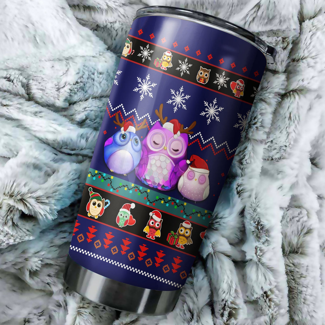 Cute Owl Christmas 3 Tumbler