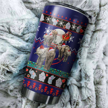 Load image into Gallery viewer, Elephent Christmas Tumbler No.1
