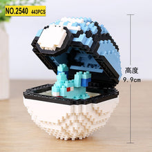 Load image into Gallery viewer, Mini Blocks Pokeball Brick 3D