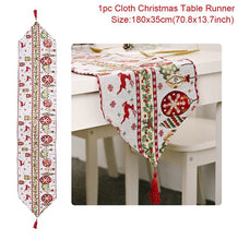 Load image into Gallery viewer, Christmas Table Runner Merry Christmas Decorations