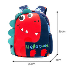 Load image into Gallery viewer, Hello Dude Dinosaur Backpacks