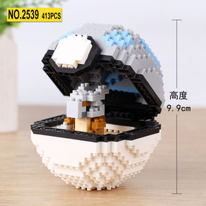 Mini Blocks Pokeball Brick 3D