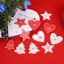 Load image into Gallery viewer, 10pcs 5cm Christmas Wooden Decorations for Home Tree