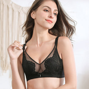 Crystal Cup Breathable Push Up Women Bra