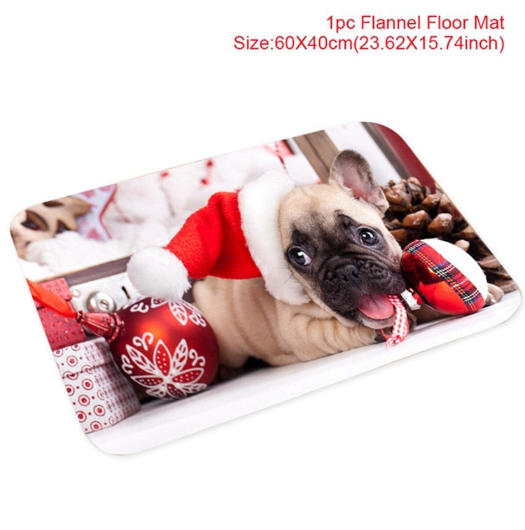 Christmas Flannel Carpet Happy New Year 2021