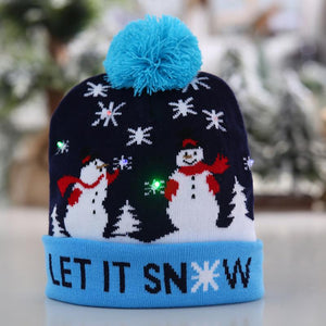 LED Christmas Hat for Children Adult