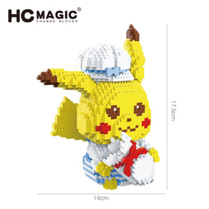 Cute Pikachu Diamond Blocks