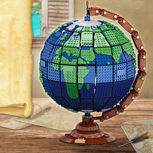 Earth Map Model Building Blocks Creator Christmas Gifts
