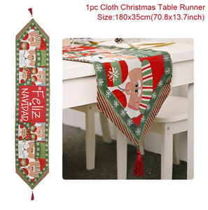 Christmas Table Runner Merry Christmas Decorations